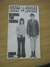 More details for peter cook & dudley moore 'behind the fridge' 1972 cambridge theatre programme