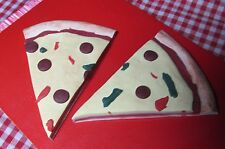 """Food, Pizza, Two large pieces, play food made for any 18"""" or American Girl Doll"""