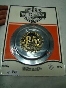 Harley 85th Anniversary primary derby cover kit medallion 25476-88 NOS EPS15761