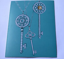 Tiffany & Co Keys Collection Jewelry Large Postcard 2014 Card Blue New