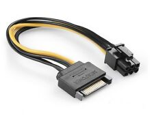 Sata Male to 6 pin PCI-Express Graphics Card power adapter cable