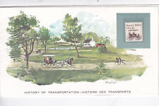 History of Transportation The Carriage Commemorative Cover Mint