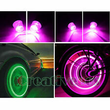 4Pcs Car Motor Wheel Tyre Tire Valve Caps Covers LED Lights Not included Battery