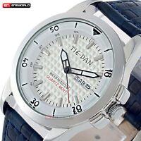 Luxury Sport Men's Date Day Analog Quartz Leather Band Waterproof Wrist Watch