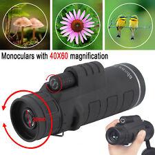 40X60 Focus HD Optics Lens Hiking Zoom Portable Monocular Telescope UK
