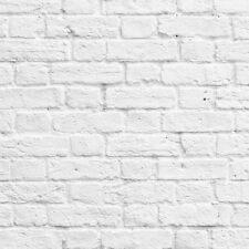 Feature Wall Photographic. Muriva Painted White Brick Wallpaper 102539