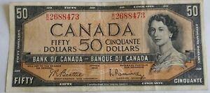 50 Dollar Canadian Bill, 1954