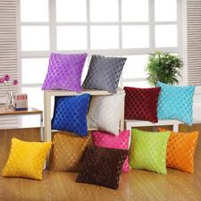 "17"" Soft Plain Cushion Cover Multi Colours Pillow Case Home Sofa Decor Luxury"