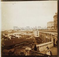 Port Algeri Algeria Foto D3 Placca Da Lente Stereo Vintage Ca 1900