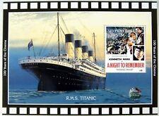 1998 MNH TURKMENISTAN TITANIC STAMPS SOUVENIR SHEET CRUISE SHIP BOAT MOVIE OCEAN