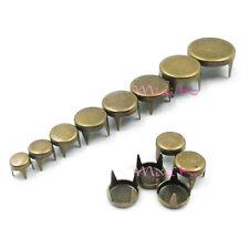 100/200/500pcs 4mm-12mm Round Studs Spots Spikes Rivets Punk DIY Nailheads