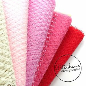 30 COLOURS TO CHOOSE FROM Russian Veiling Hat Trim Netting For Wedding Millinery