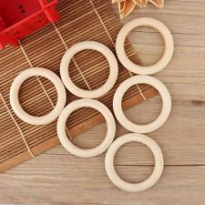 5PCs 70mm Diy Baby Wooden Teething Rings Necklace Bracelet Crafts