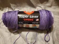 New listing Red Heart Super Saver Ombre Yarn - Big 10 oz. skein -Violet - Violeta - Lot 1600