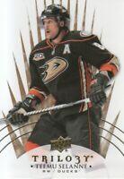 2014-15 Upper Deck Trilogy Hockey #92 Teemu Selanne Anaheim Ducks