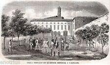 VALEGGIO SUL MINCIO: Quartier Generale Austriaco.Risorgimento.Stampa Antica.1859