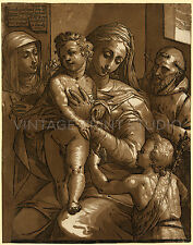 The Virgin, Child, and saints, 1585 Vintage Virgin Mary Art Canvas Print 22x28
