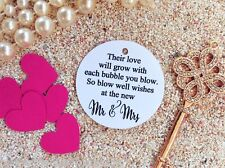 10 Kraft White Gift Tags Wedding Bubbles Tags Wedding Favour Bomboniere