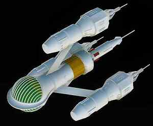 Blakes 7 Liberator Model Kit, Highly Detailed With Brass Nacelles