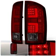 For 2002-2006 Dodge Ram 1500 Smoke Lens Chrome Housing LED Tube Tail Light Lamps