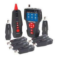 Network Cable Tester,NF 8601W Multi Functional LCD for RJ45,RJ11,BNC,Metal E4I3