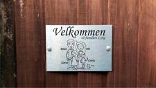 Norvegese PLACCA personalizzata porta Bastone nome della casa di famiglia segno per 4 persone.