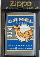 CAMEL Zippo Lighter Keg # Z 538 Only 200 MADE YEAR 2000 Three Camels On Back