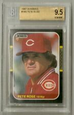 Pete Rose 1987 Donruss Base Card #186 - BGS 9.5 Gem Mint (Old Label) - REDS