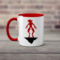 Stranger Eleven & Demogorgon Things Silhouette Mug - Ceramic Coffee Hot Cold Cup