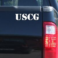 """USCG"" Military US Coast Guard Vinyl Decal Sticker-Car Truck Door Window Bumper"