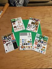Lego Large Green Baseplate + Extra Stickers