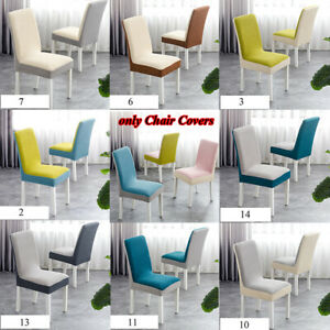 Fleece Chair Cover Dustproof Dining Room Chair Covers Thick Removable Elastic