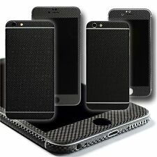 MICRO 3D CARBON Fibre Skin Wrap Sticker Protector Decal for iPhone 6 & 6 Plus