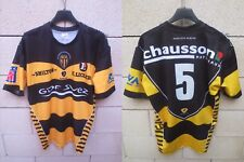 Maillot rugby SCA ALBI porté n°5 Rugbytech LNR match worn shirt made in France L