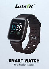 "Smart Watch ""Letsfit"" ++ Fitness Tracker ++ Pulsuhr ++ Unisex ++ Blau ++ NEU/OVP"