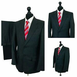 Mens Brook Taverner Suit 36R 34W 30L Grey 2 Piece Smart Formal Business  P94