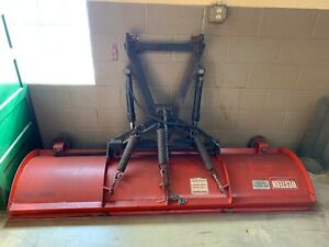 Used Western 23766 7' Snow Plow, Red, Heavy Duty, Professional