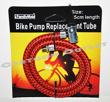 BIKE PUMP REPLACEMENT TUBE HAND PUMP PORTABLE AIR TUBE HOSE HEAD REPLACEMENT NEW
