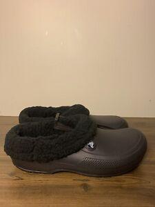 Crocs Mens Classic Blitzen III Clogs Black Slip-On Faux Fur Lined Men's Sz 11