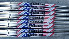 "3-PW NEW 2012 RYDER CUP TOUR ISSUE DYNAMIC GOLD X100 .355"" TAPER TIP IRON SHAFTS"