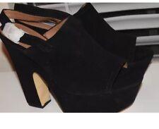Steve Madden Black Suede Platform Shoe Sz. 10