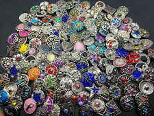 50pcs Lots Charm Snap Button Chunk Interchangeable Diy 18MM Ginge Snap Jewelry