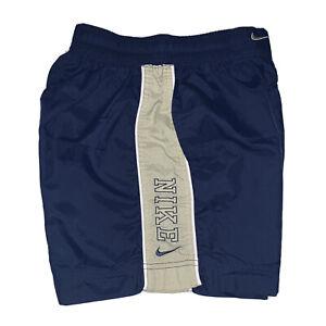 vintage nike nylon shorts White Tag Embroidred Spell Out Size Medium (10-12)