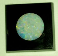 NOS Antique Deco Victorian Black Onyx Square Stone w/ Inlaid Round Opal  #C300