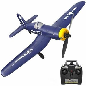 Top Race 4 Channel Remote Control F4U War Airplane; Ready to Fly; Blue; Adult