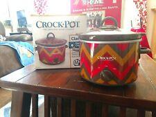 2.5 quart slow cooker Crock-Pot SCR250-RBC Chevron Red Brown Kitchen Appliance