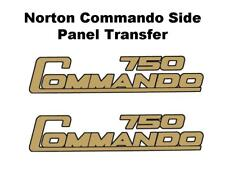 Norton Commando 750 Side Panel Transfers D50204 Black & Gold SOLD AS A PAIR