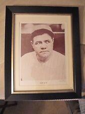Framed & Matted 1963 Baseball Monthly Premium Babe Ruth
