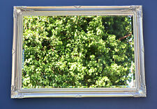 Large Antique Silver Wall Mirror 103cm x 73cm