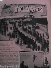 Skiing Race Ski Norway Winter Sport Victorian Rare Antique 1900 Photo Article